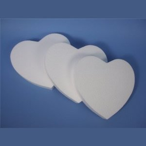 Polystyrene Hearts Pack of 3