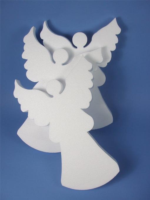 Polystyrene Angels Set of 3
