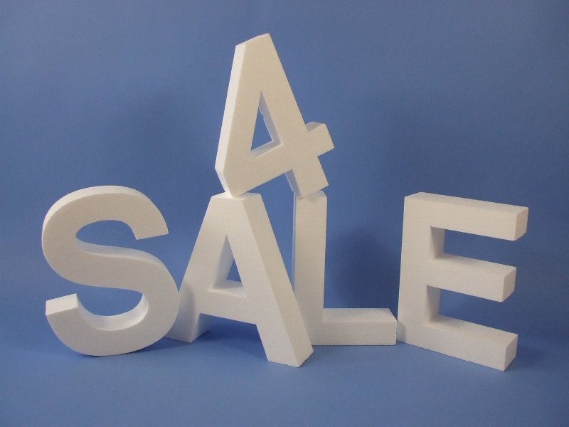 Polystyrene Letters and Numbers 300mm High