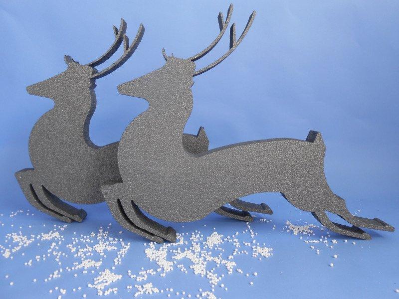 Polystyrene Reindeer shapes Twin pack