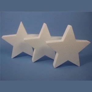 Polystyrene Stars Pack of 3